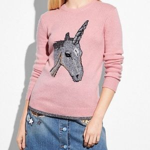 Coach Sweaters - COACH unicorn sweater!!